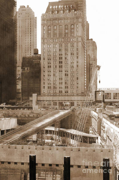 Photograph - World Trade Center Reconstruction Vintage by RicardMN Photography