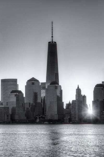 Photograph - World Trade Center Sunrise Iv by Clarence Holmes