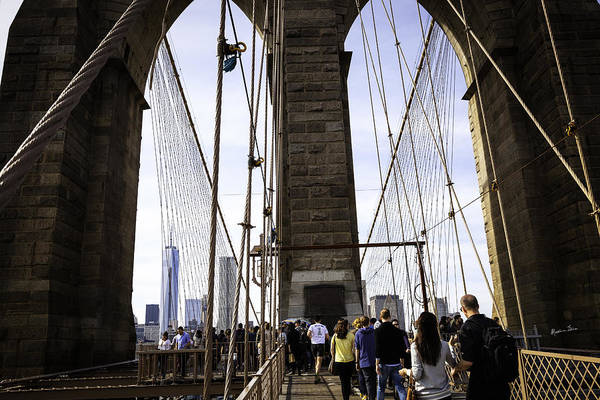 Wall Art - Photograph - World Trade Center Through The Bridge by Madeline Ellis