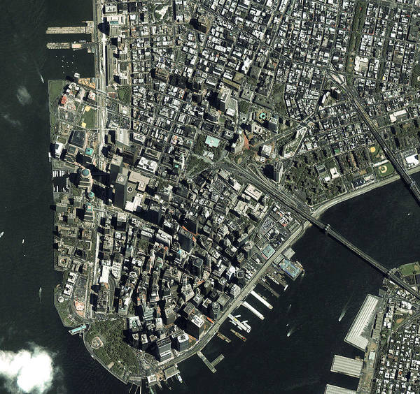 City Centre Photograph - World Trade Centre by Geoeye/science Photo Library