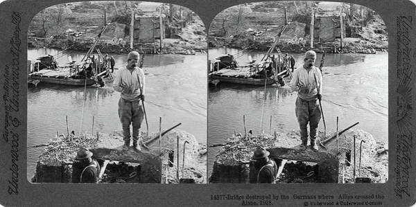 Painting - World War I Aisne River by Granger