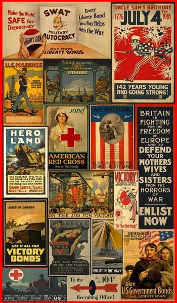 War Bonds Digital Art - World War I - Enlist by Carl Mellick