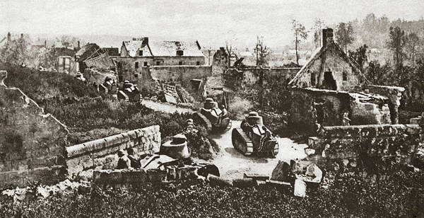 Photograph - World War I French Tanks by Granger