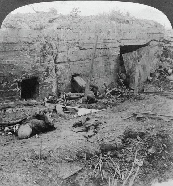 Wall Art - Painting - World War I German Dead by Granger