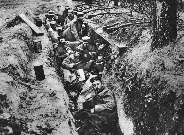 Photograph - World War I German Trench - To License For Professional Use Visit Granger.com by Granger