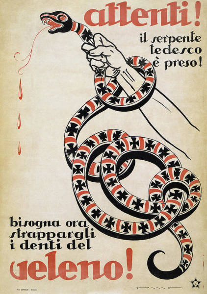 Strangling Painting - World War I Poster, 1919 by Granger