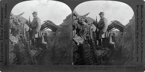 Painting - World War I Trench, C1915 - To License For Professional Use Visit Granger.com by Granger