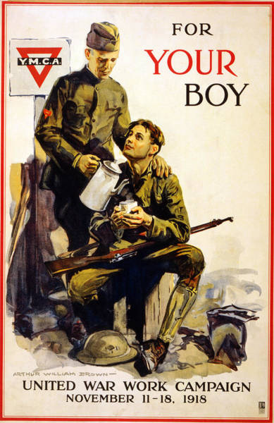 Wall Art - Painting - World War I Ymca Poster by Granger