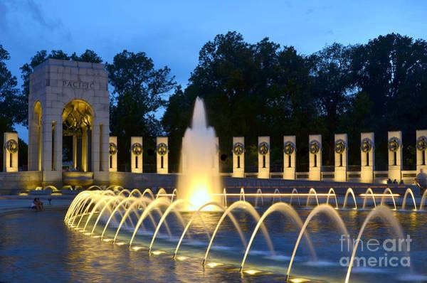 Wall Art - Photograph - World War II Memorial by Allen Beatty