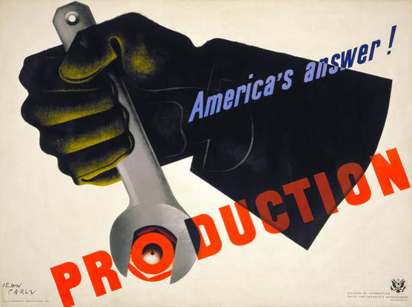 Photograph - World War II Poster, 1941 by Granger