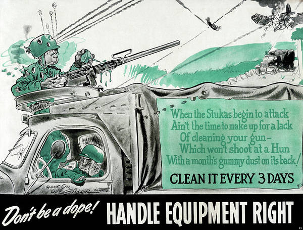 Dope Painting - World War II Poster, 1943 by Granger