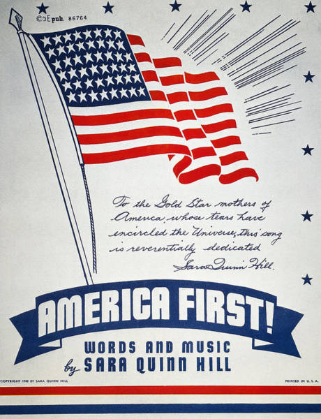 Photograph - World War II: Songsheet by Granger