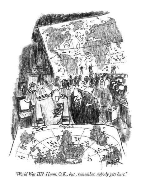 Strategy Drawing - World War IIi?  Hmm. O.k by Robert Weber