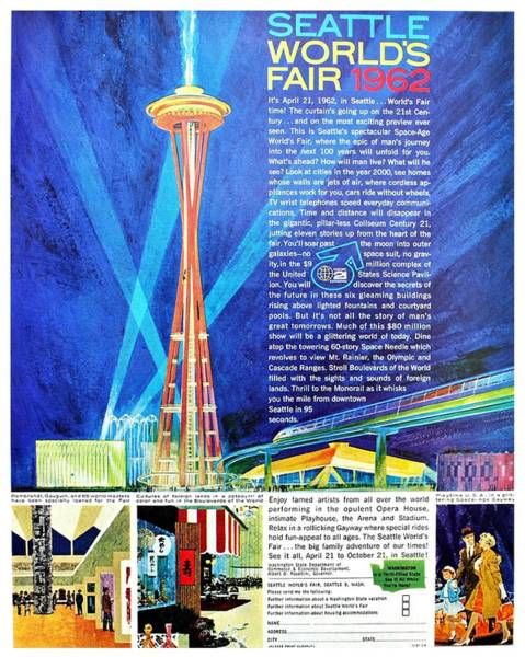 Wall Art - Photograph - Worlds Fair 1962 by Benjamin Yeager