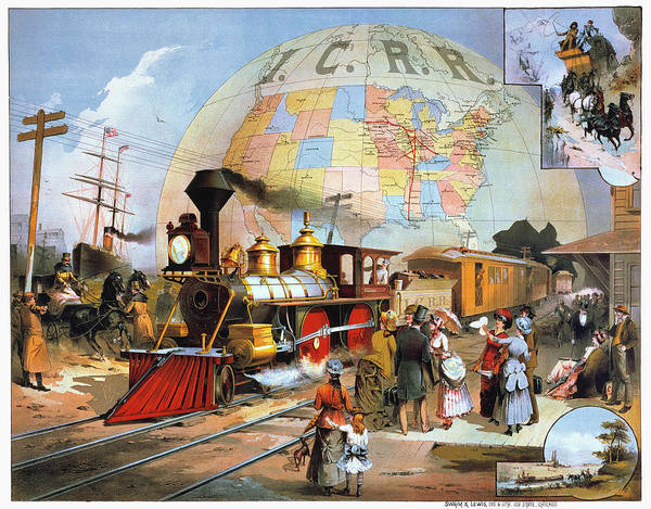 Photograph - Worlds Railroad Scene by Granger
