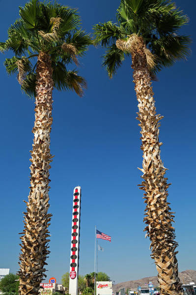 Palm Reading Wall Art - Photograph - World's Tallest Thermometer by Jim West/science Photo Library