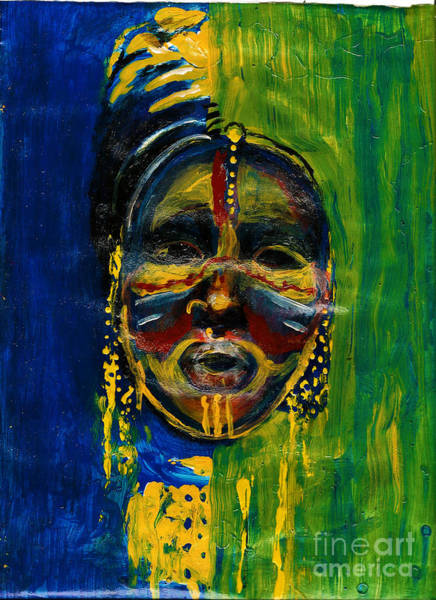 Painting - Worldwide Tribal Collection 2 by Donna Chaasadah