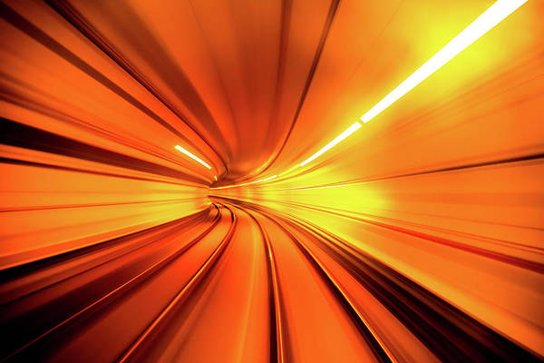 Railroads Photograph - Wormhole by Alfred Myers