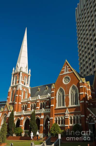 Photograph - Worship Downunder - Red Brick Church In Brisbane - Queensland - Australia by David Hill