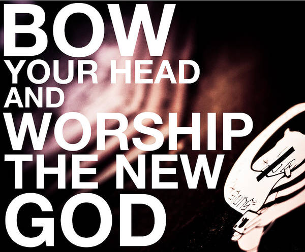Worship The New God  Art Print