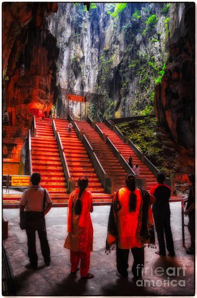 Photograph - Worshipers At Batu Caves Hindu Temple - Kuala Lumpur - Malaysia by David Hill