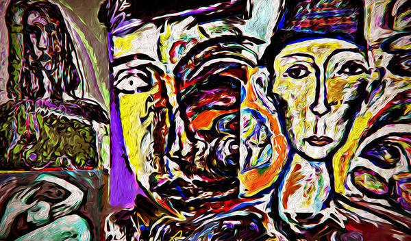 Wall Art - Mixed Media - Woumb by Noredin Morgan