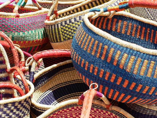Photograph - Woven Baskets by Jeff Lowe