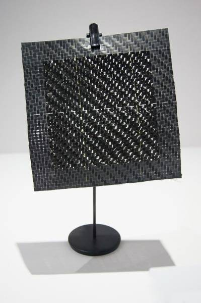 Carbon Fiber Photograph - Woven Composite Material by Mark Williamson/science Photo Library