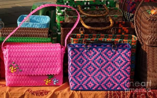 Crisscross Wall Art - Photograph - Woven Handbags For Sale by Yali Shi