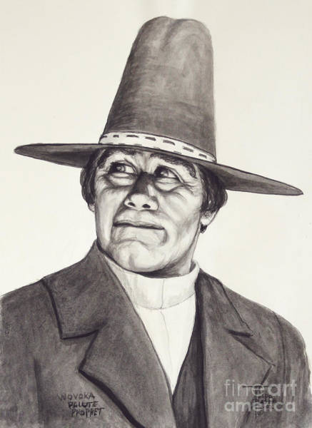 Painting - Wovoka - Paiute Prophet by Art By - Ti   Tolpo Bader