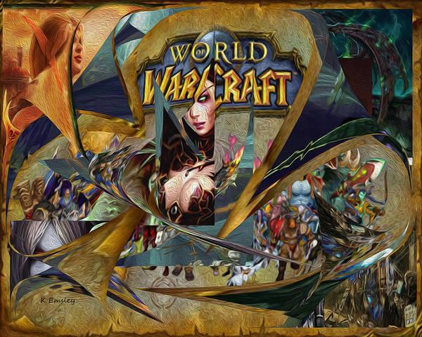 World Of Warcraft Wall Art - Digital Art - Wow Canvas by Karl Emsley