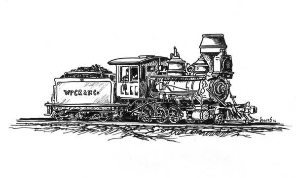 Trains Drawing - W.p.c..r. Loco by Sam Sidders