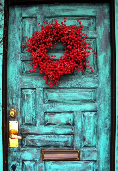 Mail Slot Photograph - Wreath Of Berries by Chris Berry