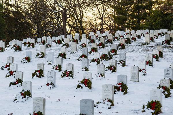 Wreaths At Arlington National Cemetery Art Print