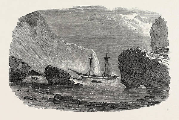 Trinidad Drawing - Wreck Of The Brig Retriever, In The Boccases by English School