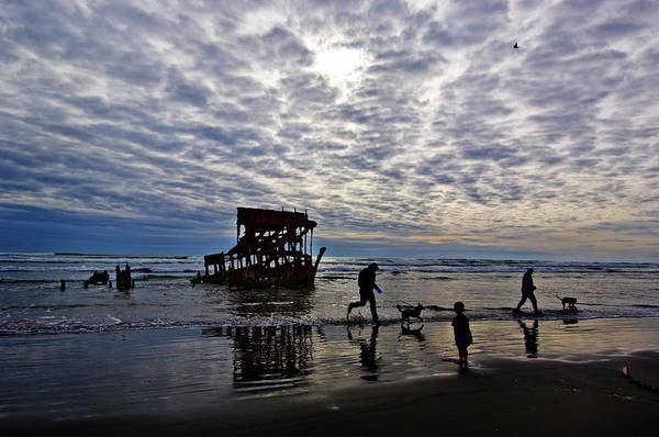 Warrenton Wall Art - Photograph - Wreck Of The Peter Iredale, Warrenton by Panoramic Images