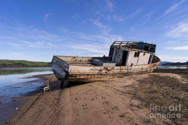 Photograph - Wreck Of The Point Reyes Boat In Inverness Point Reyes California Dsc2099 by Wingsdomain Art and Photography