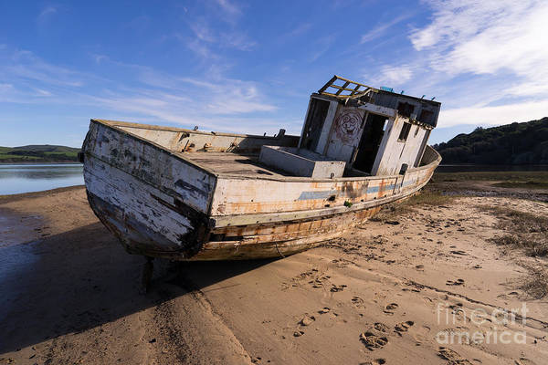 Photograph - Wreck Of The Point Reyes Boat In Inverness Point Reyes California Dsc2111 by Wingsdomain Art and Photography