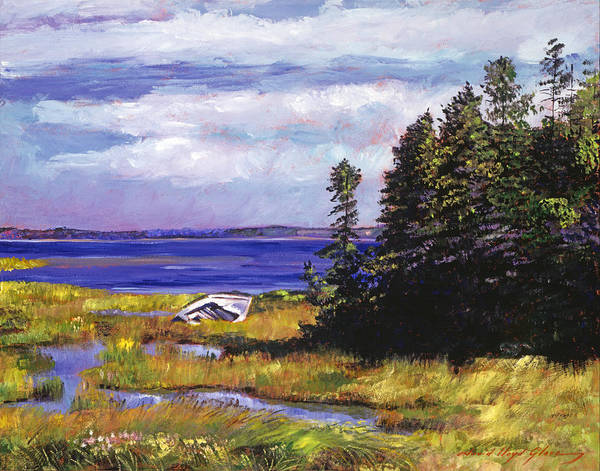 Painting - Wreck Of The Rowboat by David Lloyd Glover