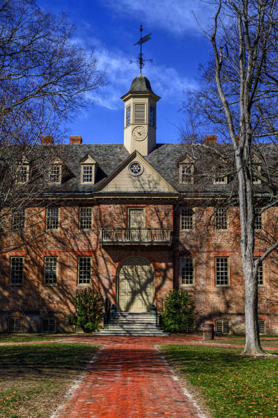 Photograph - Wren Building Main Entrance by Jerry Gammon