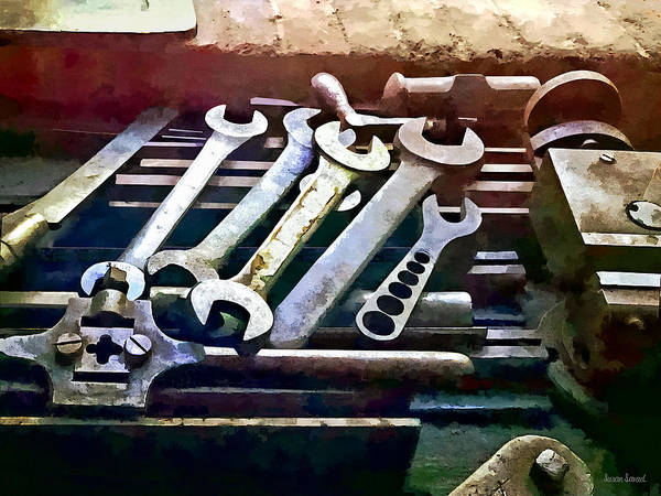 Photograph - Wrenches In Machine Shop by Susan Savad