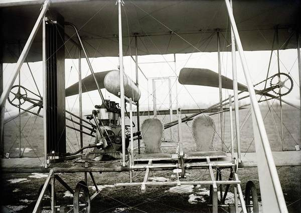 Model A Photograph - Wright Biplane Engine And Seats by Library Of Congress
