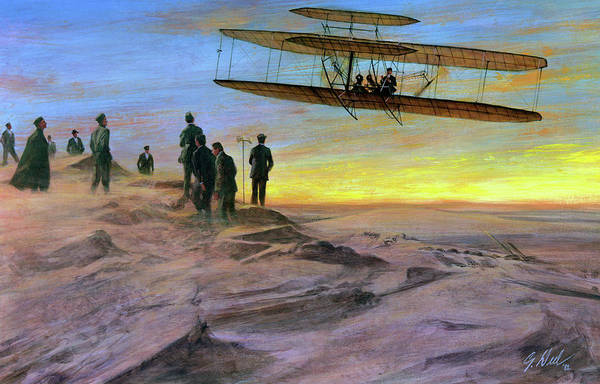 Wall Art - Painting - Wright Brothers, 1907 by Granger