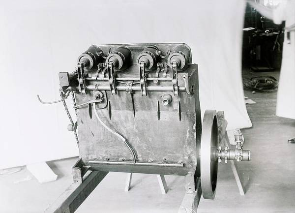 Horsepower Photograph - Wright Flyer Aircraft Engine by Library Of Congress