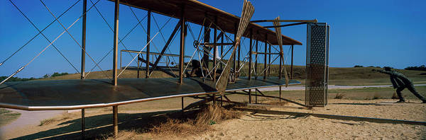 Wall Art - Photograph - Wright Flyer Sculpture At Wright by Panoramic Images