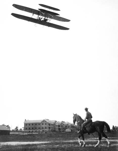 Horseman Photograph - Wright Military Flyer by Library Of Congress