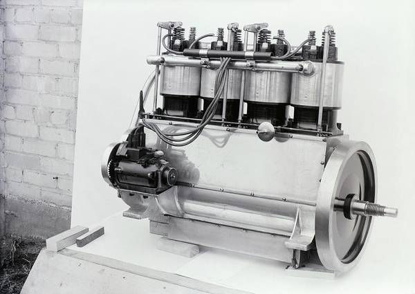 Horsepower Photograph - Wright Vertical 4 Aircraft Engine by Library Of Congress