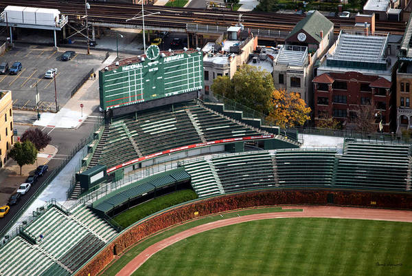 Jon Lester Photograph - Wrigley Field Chicago Sports 04 by Thomas Woolworth