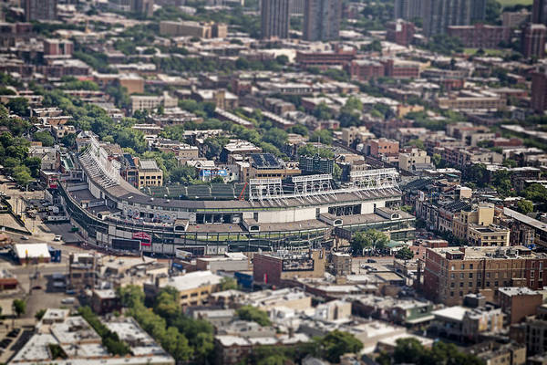 Field Photograph - Wrigley Field - Home Of The Chicago Cubs by Adam Romanowicz