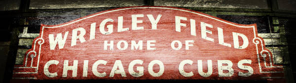 Hey Photograph - Wrigley Field Sign - No.2 by Stephen Stookey